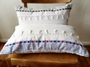Handgewebte LAMALVE weisses Kissenbezug aus Baumwolle - LaMalve