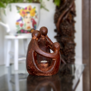 Freundschaftskreis 3-köpfige Familie, Teelichthalter - Mitienda Shop