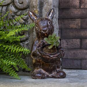 Blumentopf aus Ton Hase stehend - Mitienda Shop