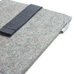 E-Reader-Hülle Filz graubraun-meliert - tuchmacherin - handgewebtes design + filz