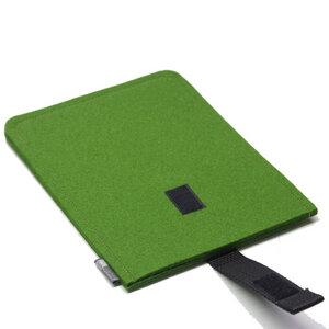 E-Reader-Hülle Filz grün - tuchmacherin - handgewebtes design + filz