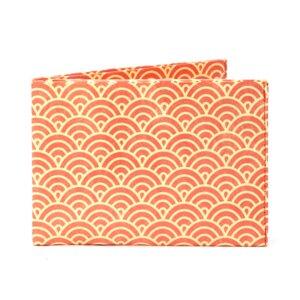 Portemonnaie - Halbkreise Orange Rot - paprcuts