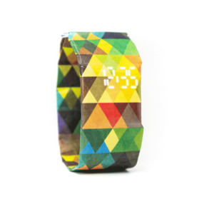 Armband Uhr - Dreiecke Bunt - paprcuts