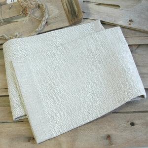 Handgewebtes Leinenhandtuch, Leinenhandtücher von tuchmacherin, natur/weiß - tuchmacherin - handgewebtes design + filz