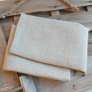 Handgewebtes Leinenhandtuch, Leinenhandtücher von tuchmacherin, natur/natur - tuchmacherin - handgewebtes design + filz