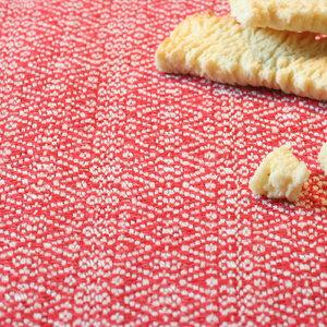 Leinen-Tischset, handgewebt, Leinen-Tischsets von tuchmacherin, natur/rot - tuchmacherin - handgewebtes design + filz