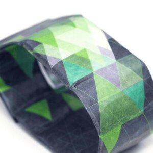 Armband Uhr - Dreiecke Blau/Grün - paprcuts