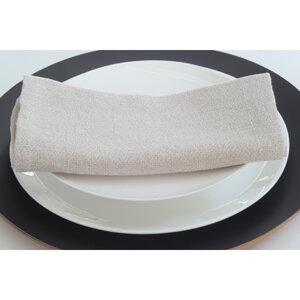 Stoffserviette aus reinem Naturleinen - tuchmacherin - handgewebtes design + filz
