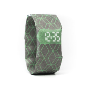 Armband Uhr - Hexagon Grey Green - paprcuts
