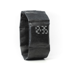 Armband Uhr - Just Black - paprcuts