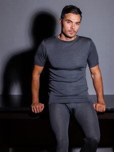 edles Wolle/Seide Herren Basic Shirt Rundhals Feinripp - Haasis Bodywear