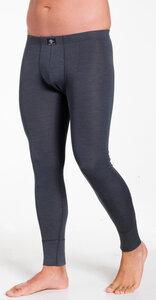 edle lange Herrenhose, ohne Eingriff, Feinripp, Wolle/Seide Mischung - Haasis Bodywear