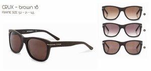 WeWood Sonnenbrille The Crux - Brown - aus Baumwollfaser - Wewood