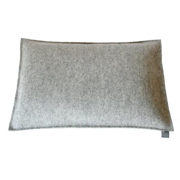 tuchmacherin handgewebtes design filz filzkissen couchkissen 40x60 hellgrau meliert. Black Bedroom Furniture Sets. Home Design Ideas