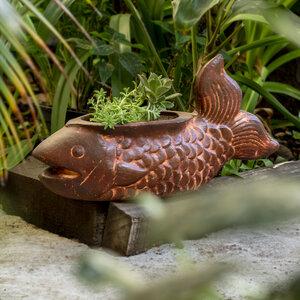 Blumentopf aus Ton Fisch Lang - Mitienda Shop