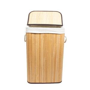 Multifunktionaler faltbarer Bambuskorb inkl. Stoffsack in 3 verschiedenen Größen - 4betterdays