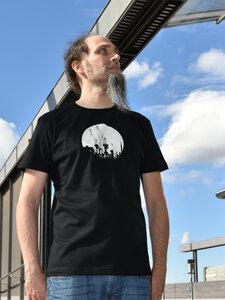 Kräne auf schwarz Boy-T-Shirt - T-Shirtladen-Marktstrasse GmbH