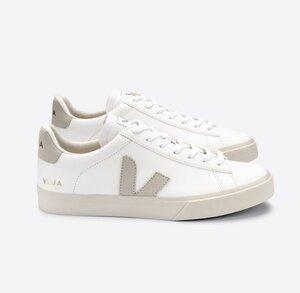 Sneaker Damen - Campo Chromefree - Extra White Natural Suede - Veja