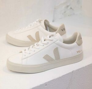 Sneaker Herren -  Campo Chromefree - Extra White Natural Suede - Veja