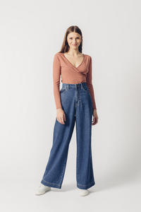 Jeans High Waist Wide Leg Fit - Skater - United Change Makers