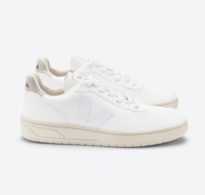Sneaker Damen Vegan - V-10 CWL - Full-White Natural - Veja