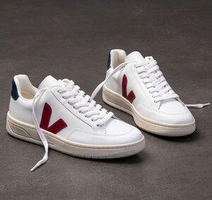 Sneaker Herren - V-12 - Extra White Marsala Nautico - Veja