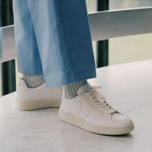 Sneaker Damen - V-12 Leather - Extra White - Veja