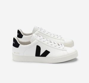 Sneaker Damen - Campo Chromefree Leather - White Black - Veja