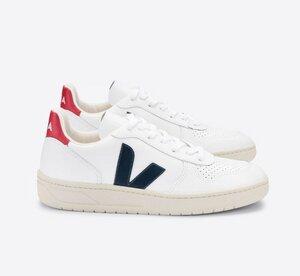 Sneaker Herren - V-10 Leather - Extra White Nautico Pekin - Veja