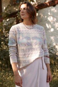 100% Alpaka Wolle (limitierte Edition) – Inka Strickpullover 'Puma Pastell' - ACHIY