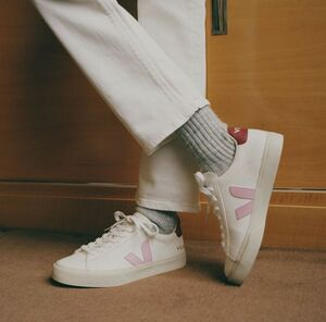 Sneaker Damen - Campo Chromefree Leather - Extra White Guimauve Marsala - Veja