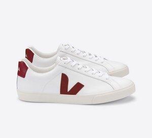 Sneaker Damen - Esplar Logo Leather - Extra White Marsala - Veja