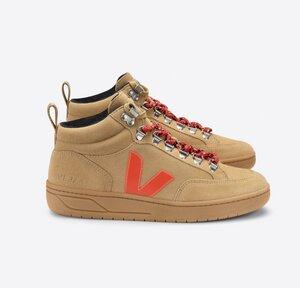 Sneaker Damen - Roraima Suede - Desert Orange-Fluo Gum-Sole - Veja