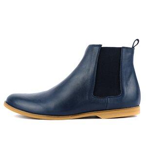 '88 Leder Chelsea Boots in Blau - SORBAS