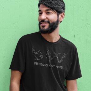 """Organic Unisex T-Shirt aus Bio-Baumwolle """"Friends"""" - BVeganly"""