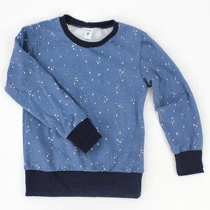 Kinder-Longsleeve blau mit Sternen - fuxandfriends