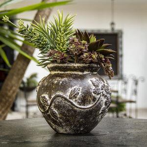 Blumentopf aus Ton, Blumen - Mitienda Shop