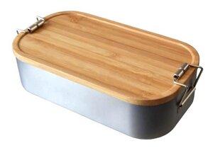 Lunchbox mit Deckel aus Bambus Holz - Cameleon Pack