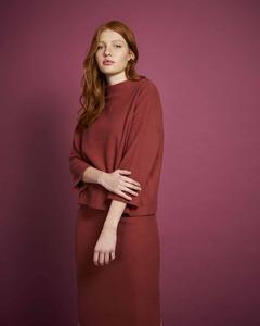 Pullover KALLISTO aus Cordsweat framboise - JAN N JUNE