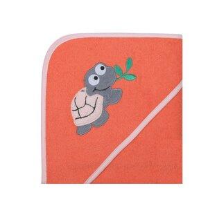 """Baby Kapuzenbadetuch Set mit Waschhandschuh """"Schildkröte"""" GOTS zertifiziert - Wörner"""