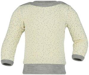 Langarm Shirt mit Pünktchen | Wolle Seide GOTS | Engel Natur - Engel natur