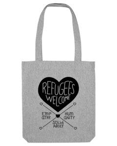 Umhänge-/Schultertasche - Refugees Welcome - Róka - fair clothing