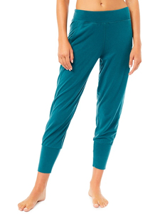 LOUNGE CROPPED PANT - Tropical Green - Mandala