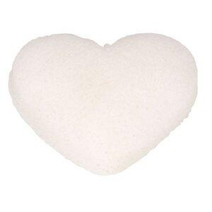 The Konjac Sponge Herzförmig Weiß Alle Hauttypen - KONGY