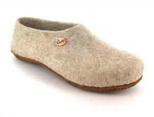 """Filzhausschuhe """"Classic"""" mit geschlossener Sohle für extra Halt mit Schuheinlage - WoolFit"""