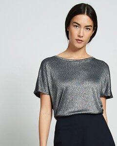 T-Shirt NOLITA silber-schwarz - JAN N JUNE
