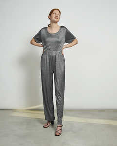 Jumpsuit LEXINGTON in silber-schwarz - JAN N JUNE