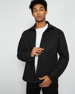 Hemd KEN FOR MEN schwarz mit Nadelstreifen - JAN N JUNE