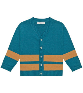 Coole Strickjacke in petrolblau - Sense Organics & friends in cooperation with GARY MASH
