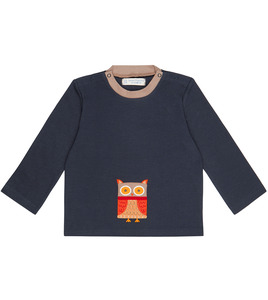 Baby Longsleeve navy mit Eule - Sense Organics & friends in cooperation with GARY MASH